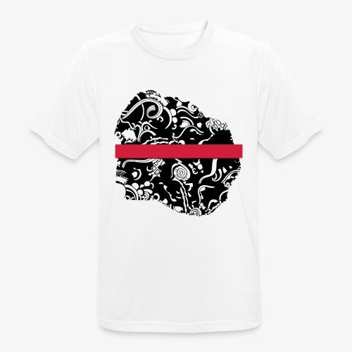 Schwarz und Weiß - Männer T-Shirt atmungsaktiv