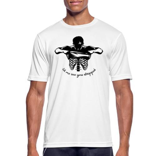 DM stripped - Männer T-Shirt atmungsaktiv