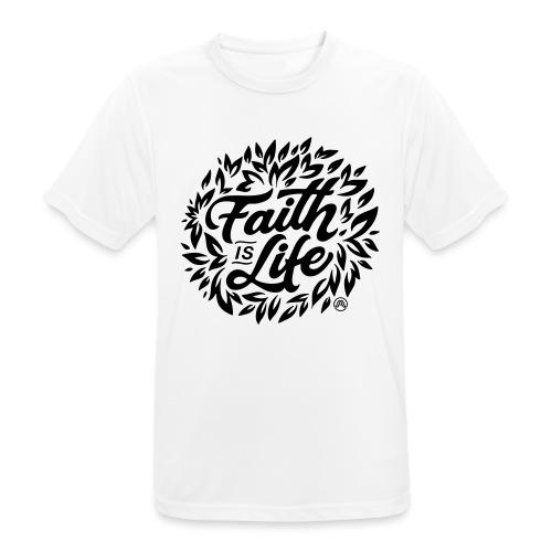 Faith is Life - Männer T-Shirt atmungsaktiv