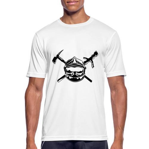 casque_pompier_hache et lance - T-shirt respirant Homme