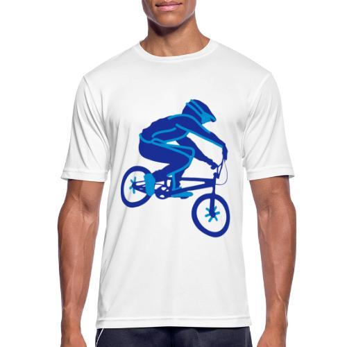 BMX Rider Dark - Mannen T-shirt ademend actief