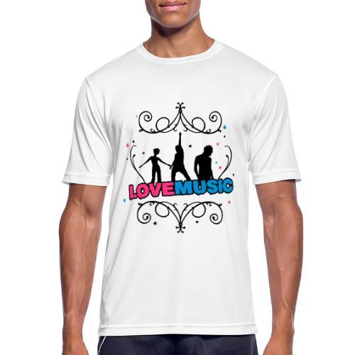 Motif Love Music - T-shirt respirant Homme