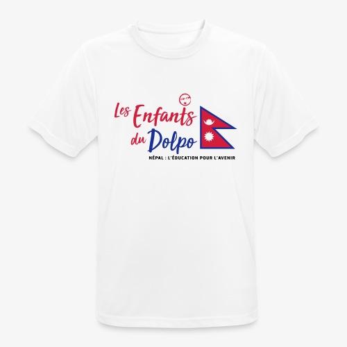 Les Enfants du Doplo - Grand Logo Centré - T-shirt respirant Homme