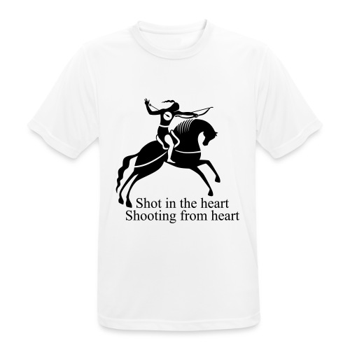 Shot in the Heart - Men's Breathable T-Shirt