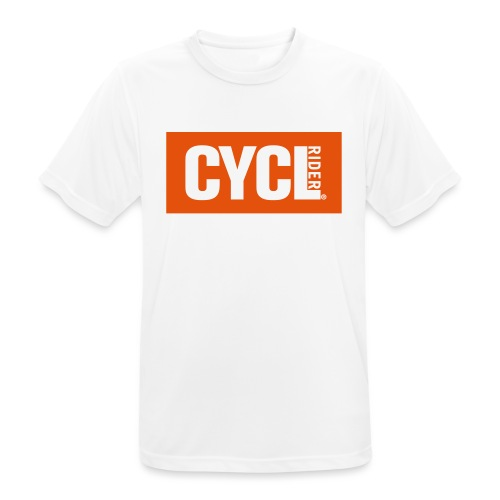 cyclrider basic white neg - Men's Breathable T-Shirt