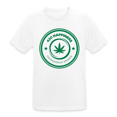 420_Happiness_logo - Herre T-shirt svedtransporterende