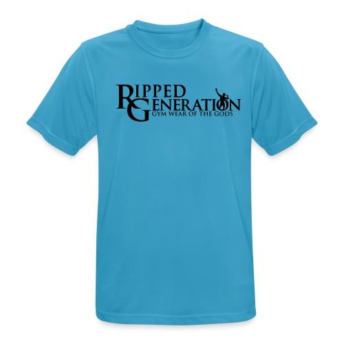 Ripped Generation Tekstilogo - miesten tekninen t-paita