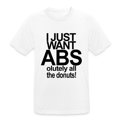 ABSolutely All the Donuts - Männer T-Shirt atmungsaktiv