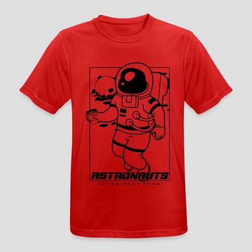 Astronauts loves Beerpong - Männer T-Shirt atmungsaktiv