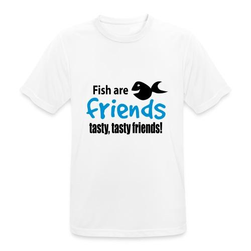 Fisk er venner - Pustende T-skjorte for menn