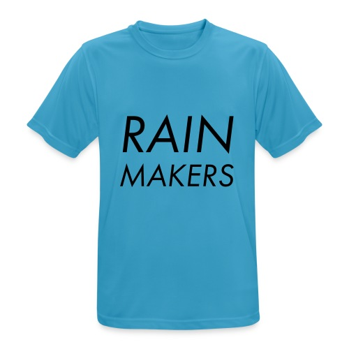 rainmakertext - miesten tekninen t-paita