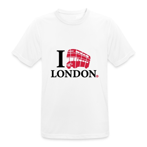 I love (Double-decker bus) London - Men's Breathable T-Shirt