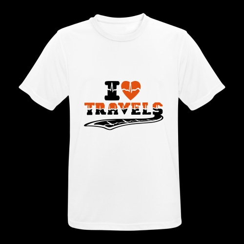 i love travels surprises 2 col - Men's Breathable T-Shirt