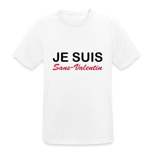 Je suis Sans-Valentin - T-shirt respirant Homme
