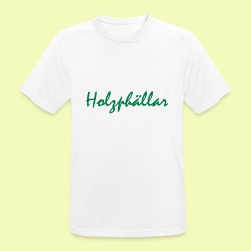 Schriftzug Grün - Männer T-Shirt atmungsaktiv