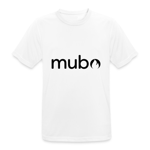 mubo Logo Word Black - Männer T-Shirt atmungsaktiv