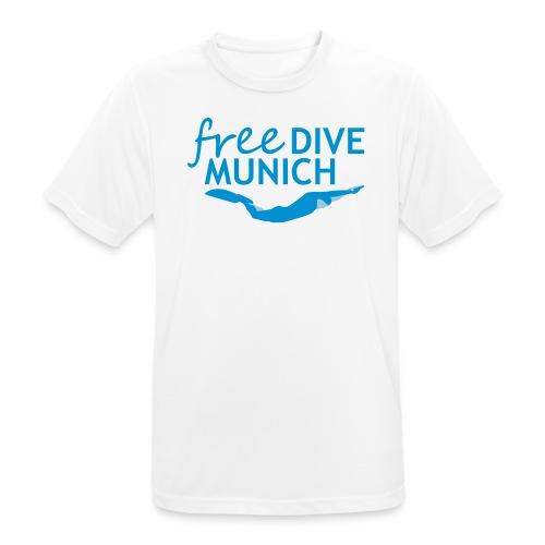 FreeDive Munich Logo zweifarbig - Männer T-Shirt atmungsaktiv