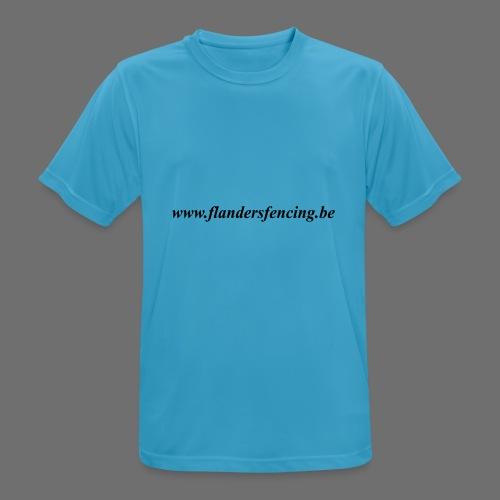 wwww.flandersfencing.be - Mannen T-shirt ademend actief