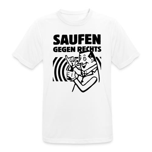Saufen gegen Rechts - Männer T-Shirt atmungsaktiv