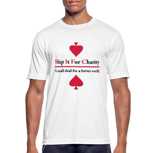 Ship It For Charity - Andningsaktiv T-shirt herr