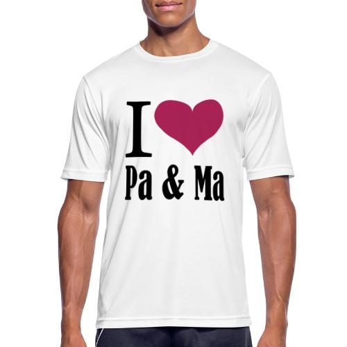 i love pa ma - Mannen T-shirt ademend actief