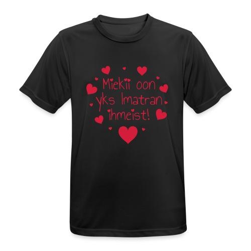 Miekii oon yks Imatran Ihmeist! Naisten t-paita - miesten tekninen t-paita