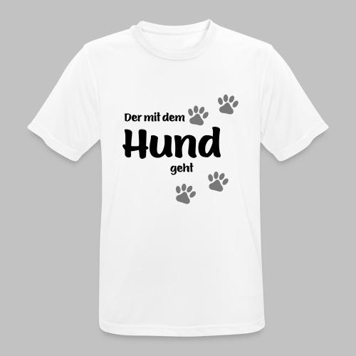 Der mit dem Hund geht - Colored Paw - Männer T-Shirt atmungsaktiv