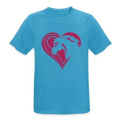 Iheart horses - Männer T-Shirt atmungsaktiv