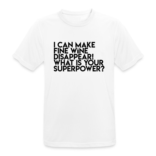 superpower - Herre T-shirt svedtransporterende