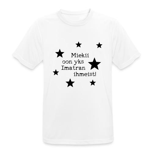 Miekii oon yks Imatran Ihmeist lasten t-paita - miesten tekninen t-paita
