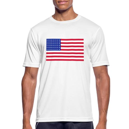 AVM 48 star flag in 3 color RGB VECTOR - Mannen T-shirt ademend actief