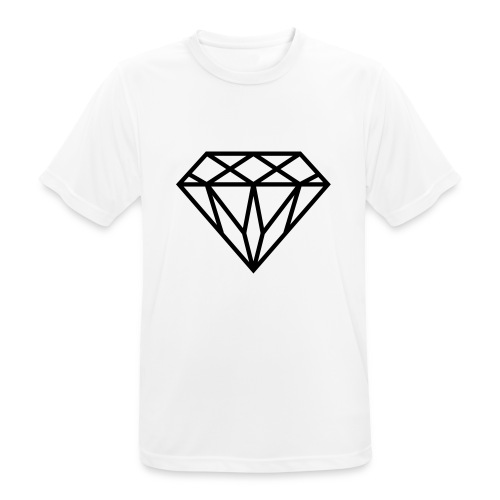 Diamond Graphic // Diamant Grafik - Männer T-Shirt atmungsaktiv