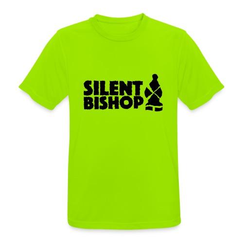 Silent Bishop Logo Groot - Mannen T-shirt ademend actief