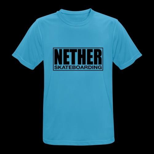Nether Skateboarding T-shirt Black - Maglietta da uomo traspirante