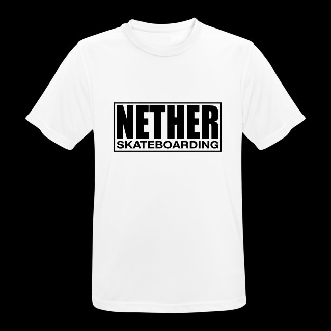 Nether Skateboarding T-shirt Black