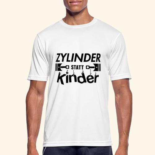 Zylinder Statt Kinder - Männer T-Shirt atmungsaktiv
