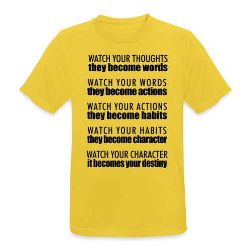 watch your thoughts - Men's Breathable T-Shirt