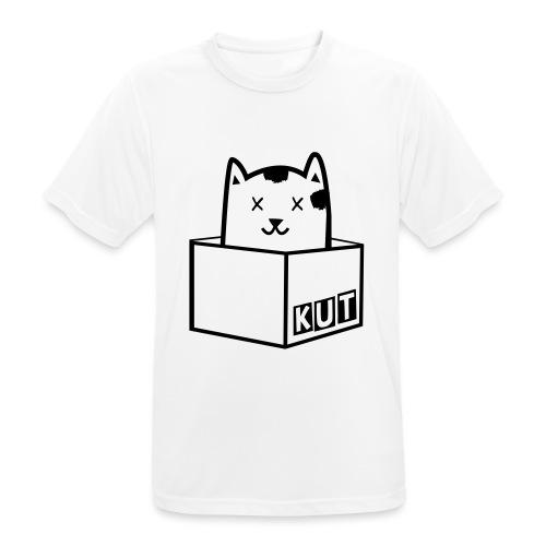 Black Vector Kitten Under Tire Records - Mannen T-shirt ademend actief