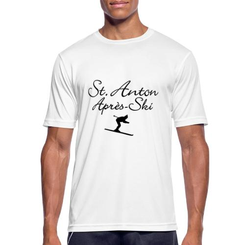 St. Anton Après-Ski Skifahrer - Männer T-Shirt atmungsaktiv