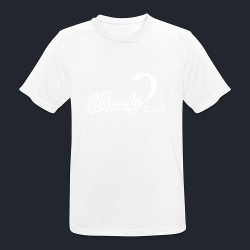 Logo Woodyboard Blanc - T-shirt respirant Homme