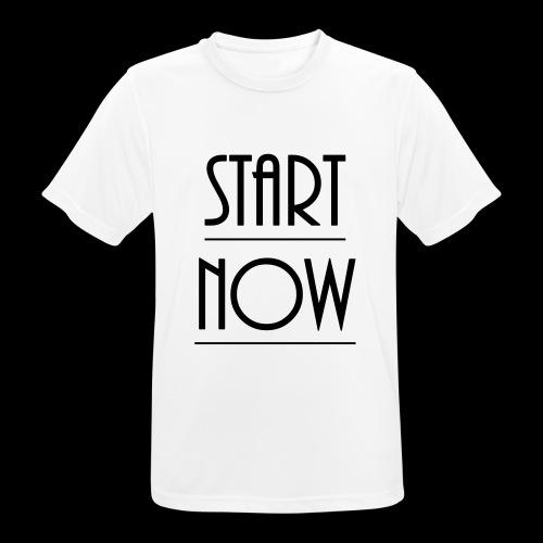 start now - Männer T-Shirt atmungsaktiv