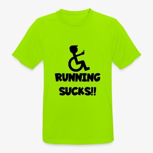 Rolstoel gebruikers haten rennen - Mannen T-shirt ademend actief