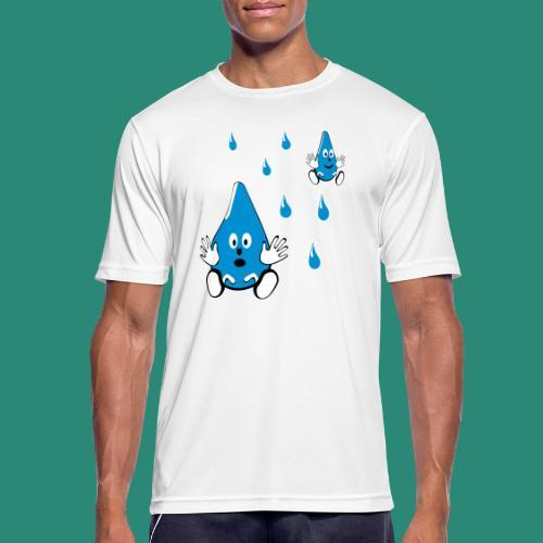 Tropfen - Männer T-Shirt atmungsaktiv