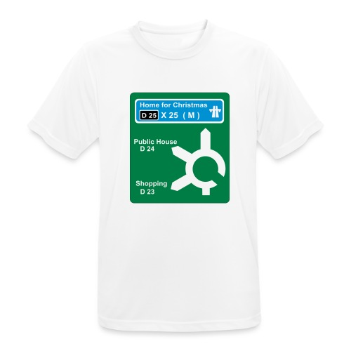HOME_FOR_CHRISTMAS_SIGN - Men's Breathable T-Shirt