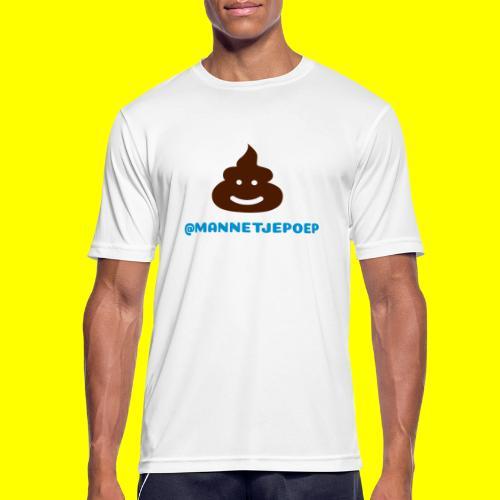 Mannetje Poep Shit - Mannen T-shirt ademend