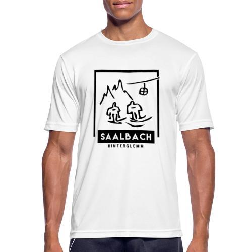 Skido's Saalbach - Mannen T-shirt ademend actief