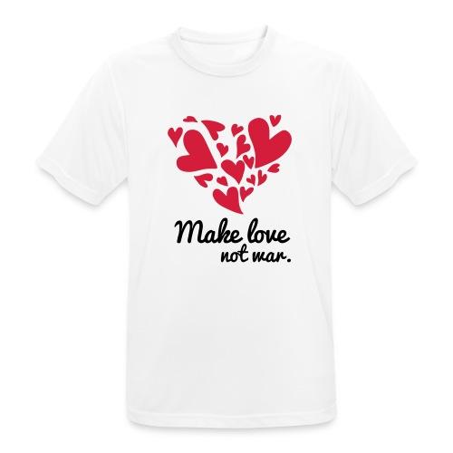 Make Love Not War T-Shirt - Men's Breathable T-Shirt
