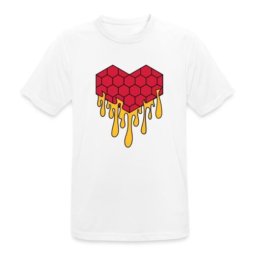 Honey heart cuore miele radeo - Maglietta da uomo traspirante