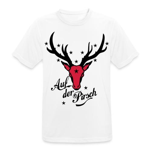 Hirsch auf der Pirsch - Männer T-Shirt atmungsaktiv