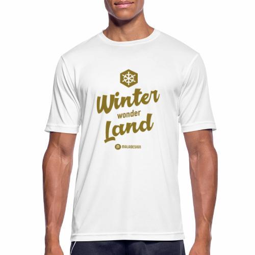 Winter Wonder Land - miesten tekninen t-paita